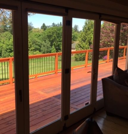 image of an outdoor cedar deck in Portland